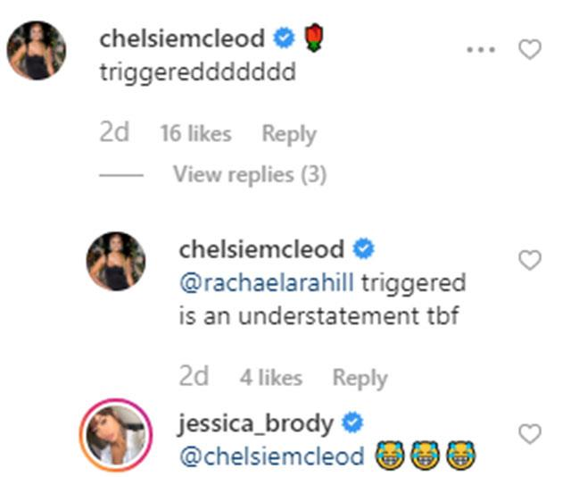 """Triggered is an understatement tbf"" Chelsie wrote - and woah!"