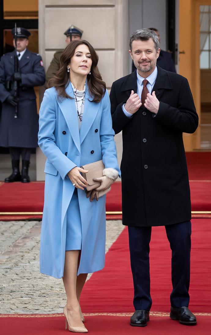 Mary and Prince Frederik are currently visiting Poland.