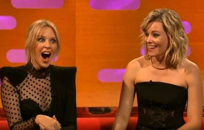 Elizabeth Banks made a joke that left Kylie Minogue speechless.