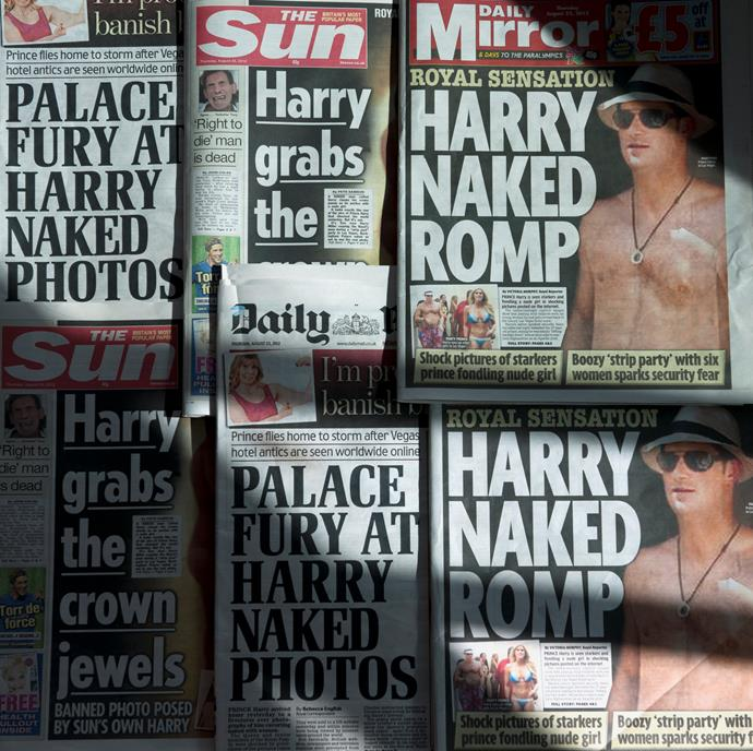 Whilst William was the good boy, Harry was often caught in compromising positions.