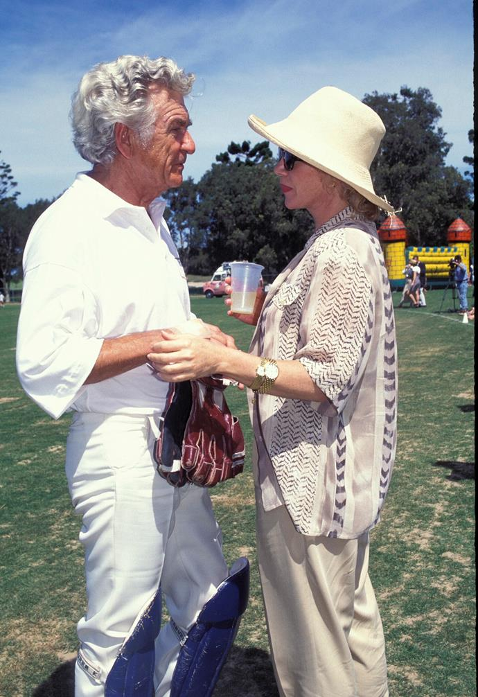 In love, Bob Hawke with Blanche D'Alpuget at charity cricket in 1995