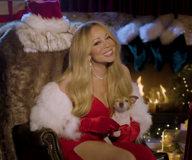 There is absolutely no logical explanation for this picture of Mariah Carey, except to say that she always looks phenomenal at Christmas time.