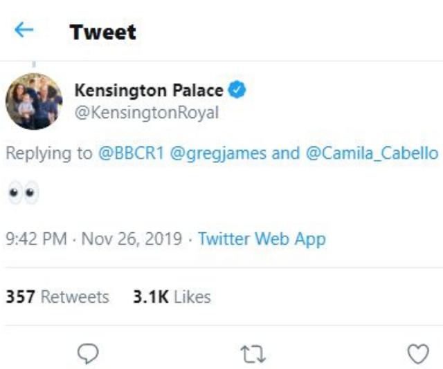 Kensington Palace's hilarious Twitter response.