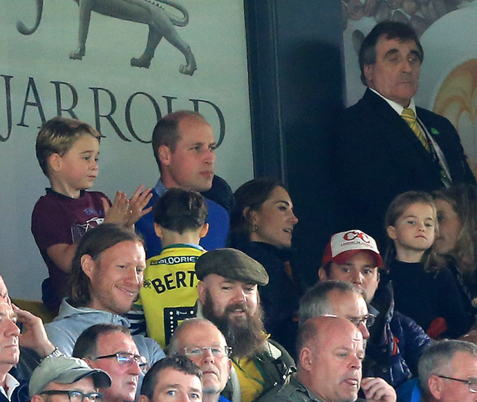 The Cambridges love their footy!