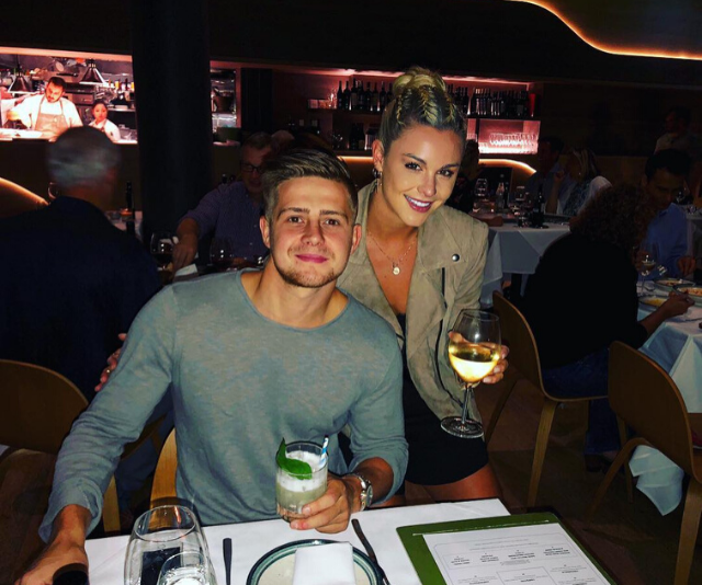 The pair enjoying a date night out together.