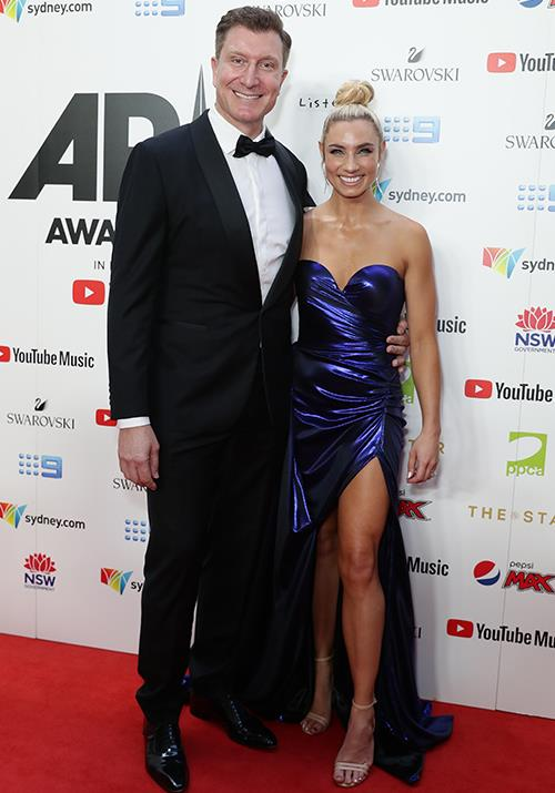 Red Wiggle Simon Pryce and his wife Lauren Hannaford have well and truly got their glam on for the occasion!