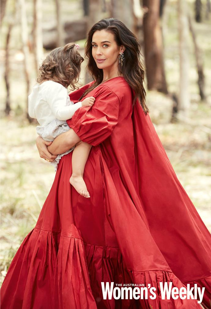 The gorgeous red dress that Megan's daughter Rosie, pictured, couldn't get enough of.