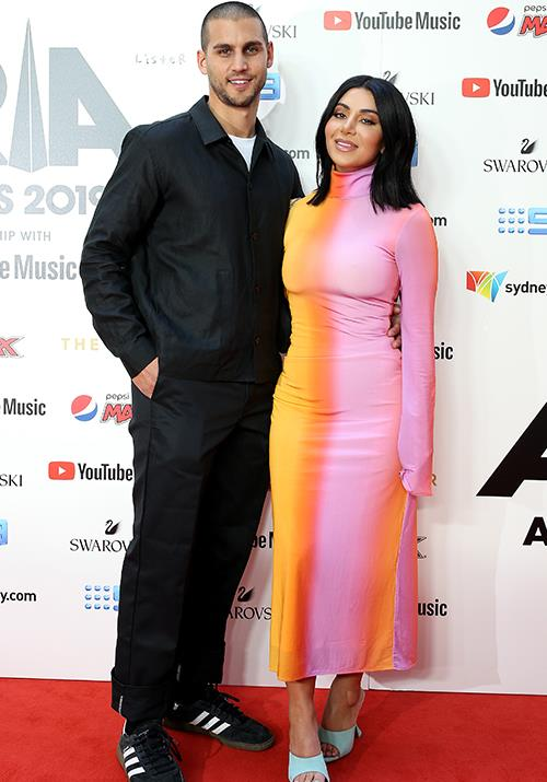 *MAFS* 2019 star Martha Kalifatidis debuts a chic chop, complemented by a *particularly* bright and bold ensemble. Partner Michael Brunelli is a smitten kitten as per.