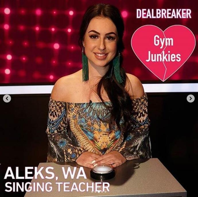 New bride Aleks has already appeared on Channel 7's Take Me Out.