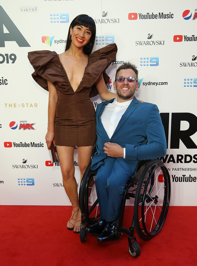 *The Set*'s Linda Marigliano and Dylan Alcott looked swish on the red carpet.