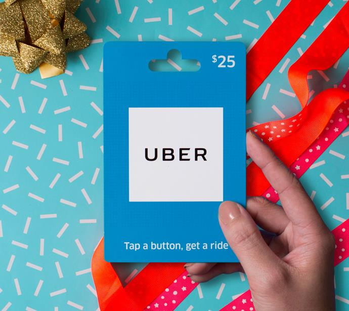 "**An Uber or Uber Eats voucher**  <br><br> It might look simple, but these very handy Uber vouchers, which are available in $25 and $50 denominations, are the best practical gift. You can choose between a standard Uber ride voucher or an Uber Eats voucher.  <br><br> From $25 on the [Uber website](https://uberaus.launchgiftcards.com/|target=""_blank""