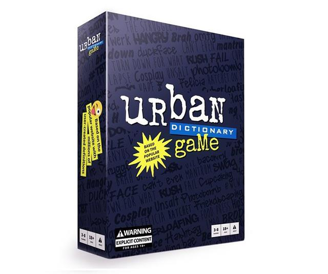 "**Urban Dictionary card game** <br><br> The awesome website [Urban Dictionary](https://www.urbandictionary.com/|target=""_blank""