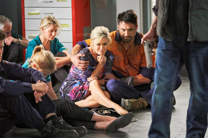 Emily Symons and Rob Kipa-Williams in the *Home and Away* finale.