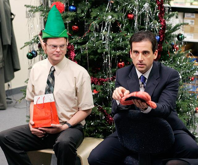 Don't be like Michael from *The Office* and give people awkward, inappropriate Kris Kringle gifts.