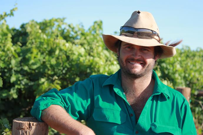 """**Farmer:** Harry <br><br> **Age:** 28 <br><br> **Location:** Goolgowi, NSW <br><br> **Type of farm:** Grapes, cotton and sheep <br><br> **Height:** 183cm <br><br> """"I think love is forever – if love is love, you're with the same person for the rest of your life. I'm sure my dogs are sick of me speaking to them, so I'm looking for someone supportive [and] a happy attitude. When you're a farmer you need to come home to a positive energy."""""""