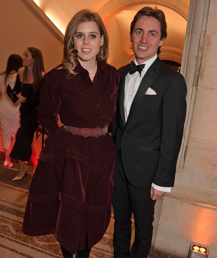 Princess Beatrice pictured with fiance Edoardo Mapelli Mozzi. The princess is definately feeling the fallout.