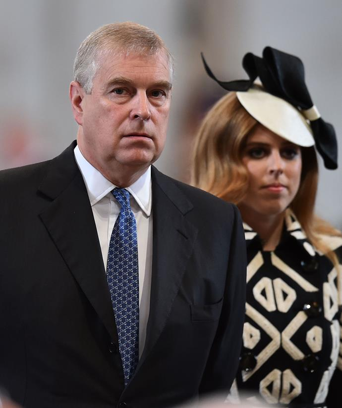 Princess Beatrice wedding requested to be on hold due to her father's scandal.