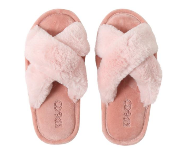 **Fairy Floss Slippers, $35.00:** Gifting mum slippers seem be a bit cliché, but there are slippers and then there are these super-cute cross-over Kip & Co slippers from Add to Cart. Soft and comfy up top, with a rubber sole they'll be a big hit on Christmas morning. They come packaged in the perfect gift box for fast easy gifting too!