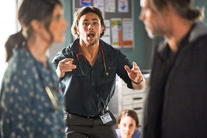 **SHOTS FIRED IN HOSPITAL SIEGE** <br><br> Just when we thought the Ouroboros gang was finished terrorising Summer Bay, the crims returned with a bang, taking our favourites hostage at the hospital. Mason's bravery led to him being shot and killed. Sob!