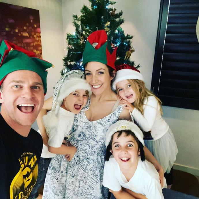 How cute do David Campbell and his family look for Tree Day?