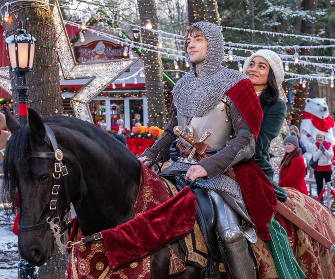 "***The Knight Before Christmas* (2019, Netflix)** <br><br> Yes, this Netflix Original movie is as low-budget and cheesy as it looks. Yes, it is glorious.  <br><br> Vanessa Hudgens stars as Brooke, a science teacher who has been disillusioned by love but must help a cursed medieval knight Sir Cole (Josh Whitehouse) return to his time. <br><br> See the full list of Netflix Original Christmas movies [**here.**](https://www.nowtolove.com.au/celebrity/movies/netflix-christmas-movies-59899|target=""_blank"")"