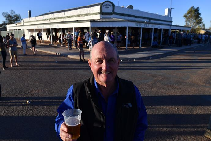 The Birdsville Hotel, one of Australia's most well-known pubs, located in the country's remote outback of QLD.