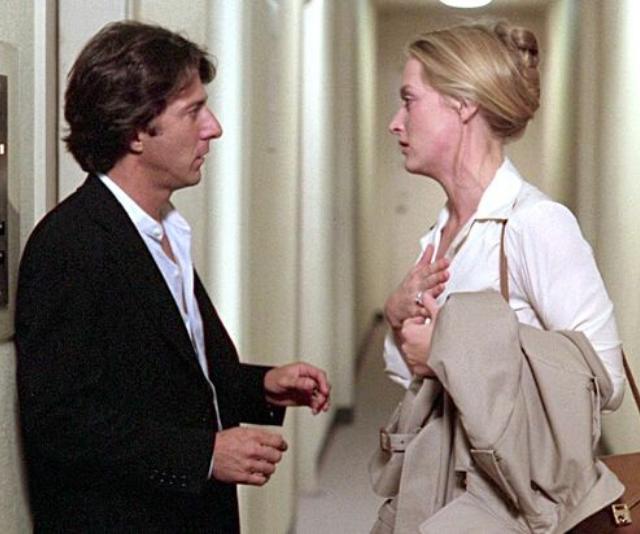 Dustin Hoffman and Meryl Streep in the famous divorce movie *Kramer vs Kramer*.