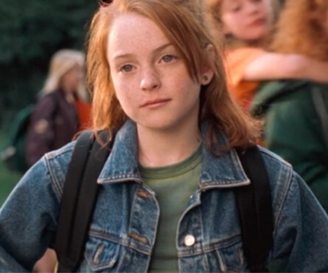 Lindsay Lohan plays the daughter of divorced parents in *The Parent Trap*.
