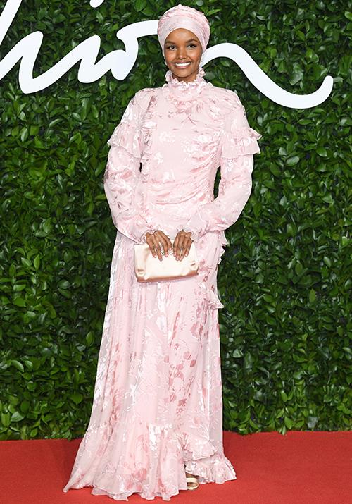 The world's first hijab-wearing model, Halima Aden is a vision in pink.