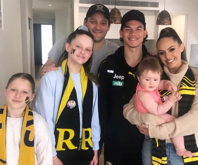 The whole Fevola clan, plus Daniel.