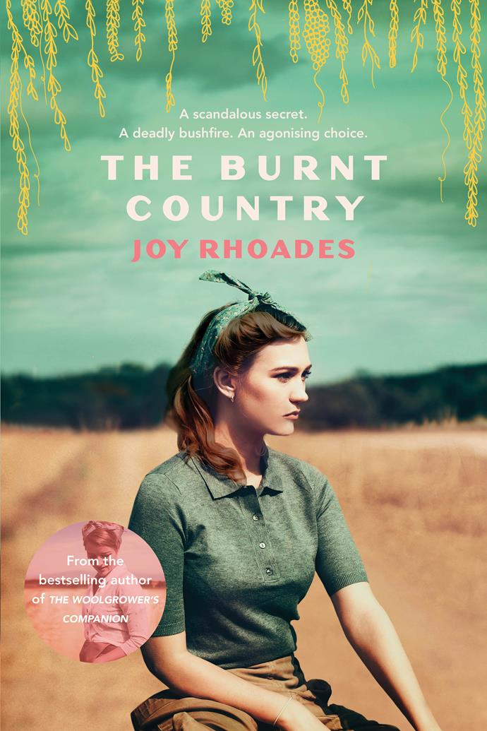 ***The Burnt Country* by Joy Rhoades**  <br><br> This sequel to the excellent *The Woolgrower's Companion* finds our feisty heroine Kate Dowd struggling to run her NSW sheep station Amiens, as the community bickers and gossips behind her back.  <br><br> Estranged husband Jack wants her to sell the farm and with her wartime lover Luca back in town, he's asking for a divorce and promises to protect Kate's reputation ... but for a price. Then a dry winter bushfire season threatens.