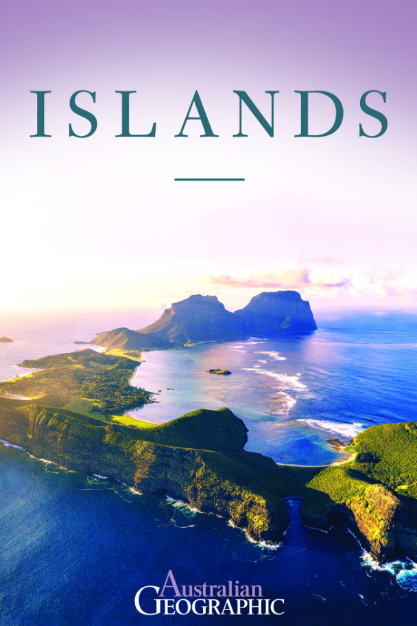 ***Islands*, Australian Geographic** <br><br> From the Whitsundays and Norfolk in the east, to Kangaroo and Phillip in the south,Rottnest and Cocos in the west and Torres Strait and Fitzroy in the north, this is the ultimate guide to Australia's islands.