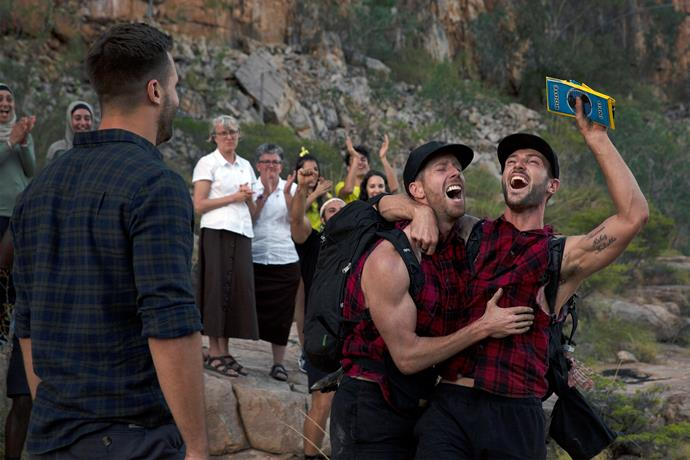 Tim and Rod win *The Amazing Race Australia.*