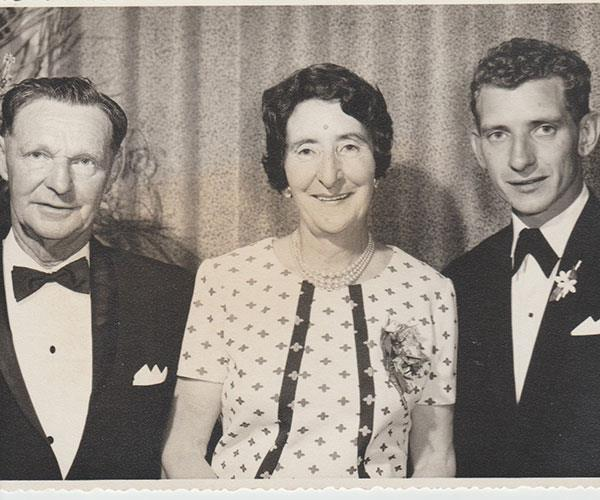 My parents and me, aged 19.
