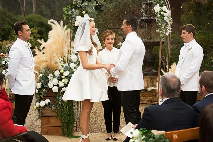 Chloe and Pierce meet at the altar after a tense wedding day.