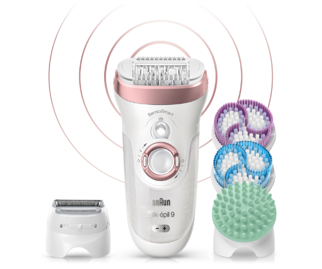 **Braun SensoSmart Silk Epil 9 Epilator, RRP $329.00:** Look, we can all get by with the old Bic razor, and we can all trudge to an awkward waxing appointment but who really wants to? This Rose Gold Epilator from Braun, available at The Shaver Shop is a total luxury that we are 100 percent not opposed to. The Braun Silk Epil 9 SensoSmart SES 9/900 Skin Spa promises to epilate more hairs in one stroke, shaves sensitive areas, exfoliates, tones and refines skin. It's brilliant and for anyone who scores one under the tree this year, regifting will be the last thing on their mind.