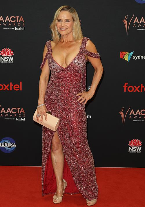 *The Block*'s Shaynna Blaze is ravishing in this sparkly red number.