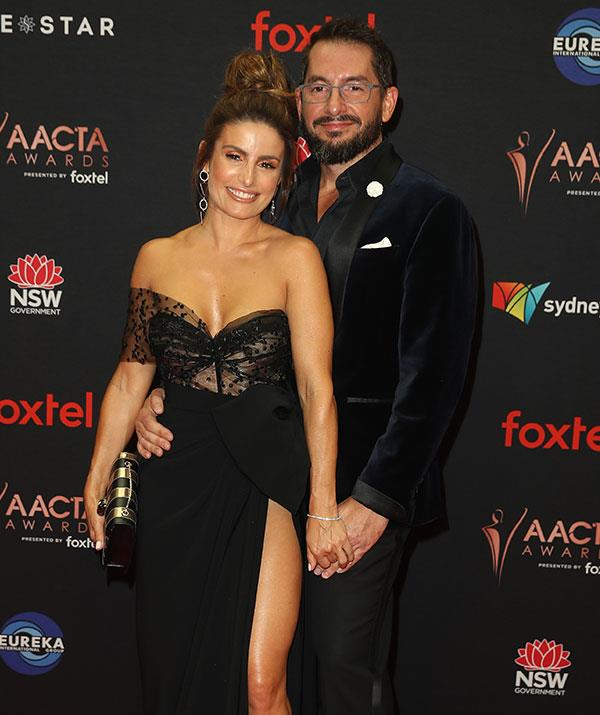 It was date night for the stunning star who brought her longtime partner Adam Rigby along to the event.