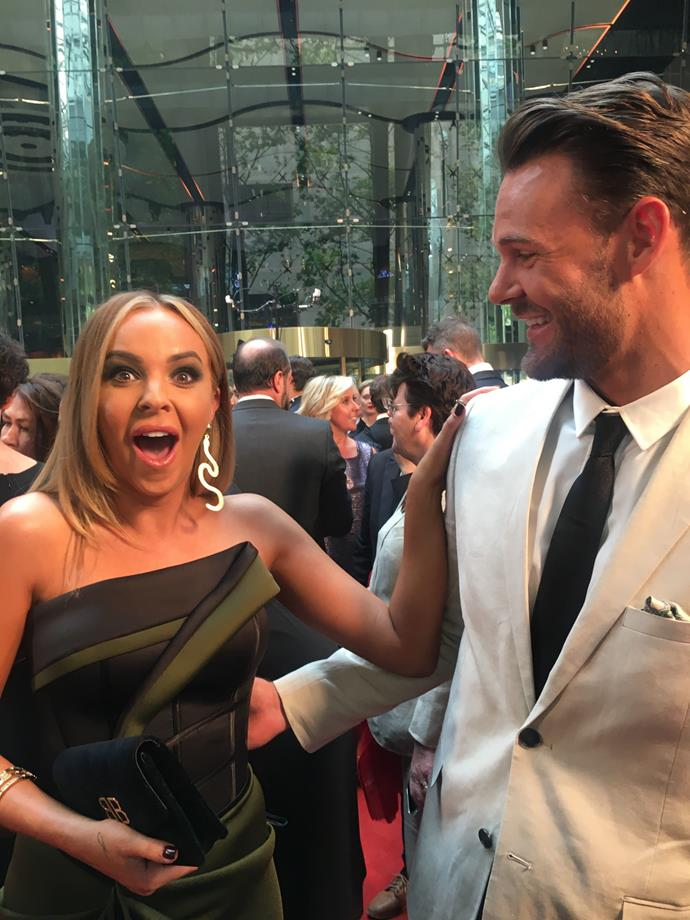 Sam Neill spotted! Angie brought starstruck to a new level.