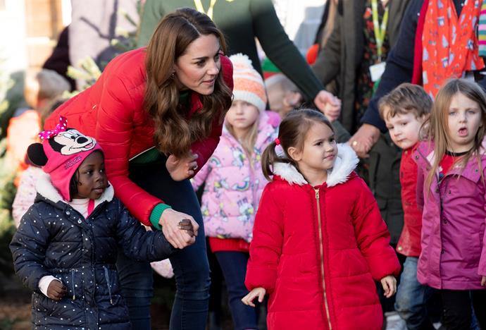 The royal mum-of-three proved once again how great she is with children.