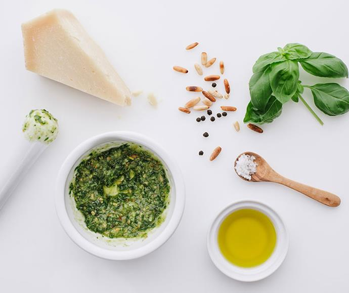 Pesto is just one of the ways olive oil can be incorporated into your diet