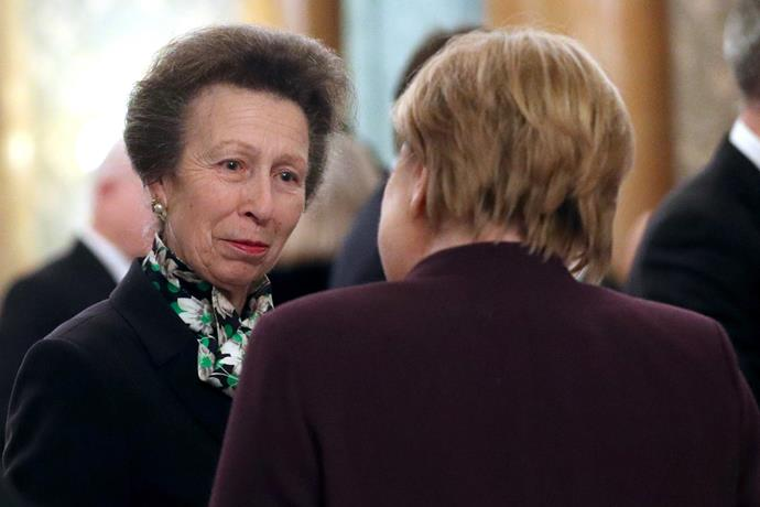 The video of the Princess Royal at the reception with Trump went viral.