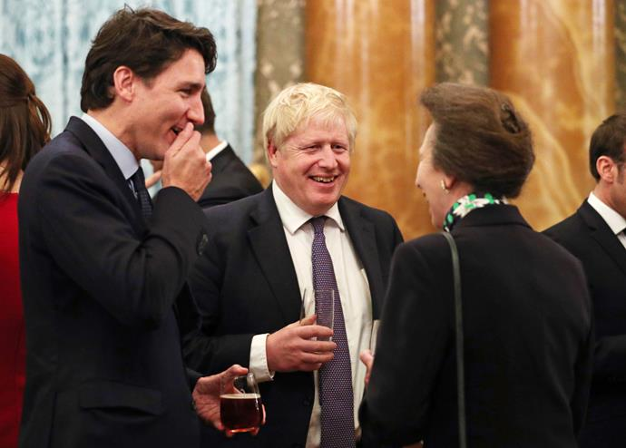 Anne was also spotted at the event sharing a laugh with Canadian Prime Minister Justin Trudeau and British Prime Minister Boris Johnson.