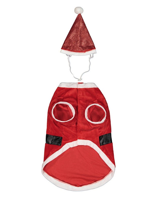 "**Christmas Santa Pet Costume** <br><br> **[$7 from Kmart](https://www.kmart.com.au/product/christmas-santa-pet-costume---large/2714351|target=""_blank""