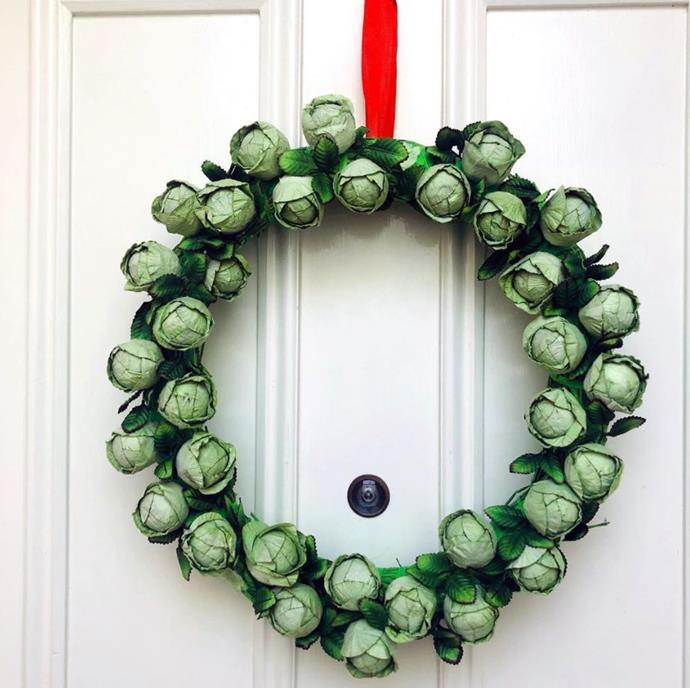 As for Nigella Lawson, we're loving her idea of a Brussel sprout wreath!