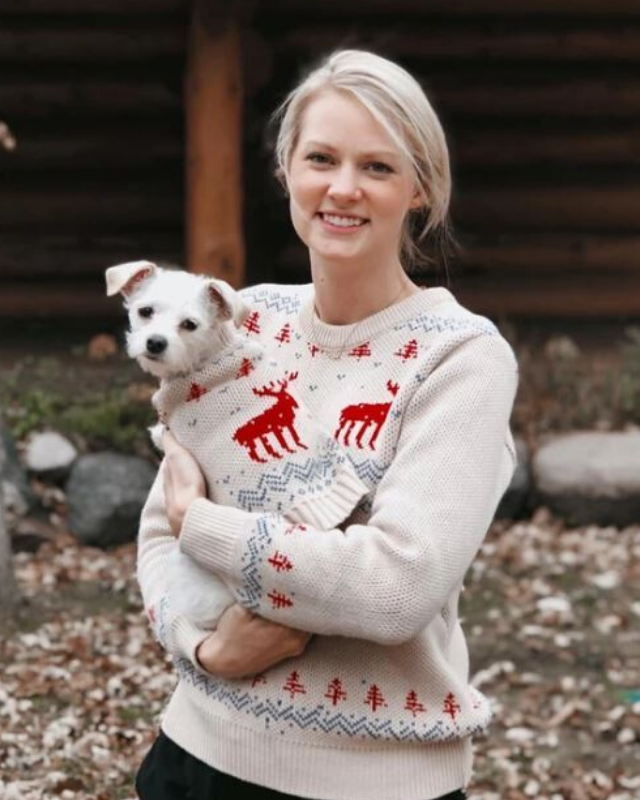 "**Dog Threads Let It Snow Sweater**  <br><br> **[$42 from Dog Threads](https://shopdogthreads.com/collections/twinning/products/christmas-sweater-matching-sizes-for-dogs-humans|target=""_blank""
