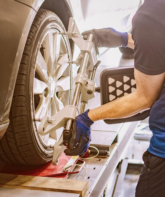 When wheels are not correctly in place they can reduce fuel efficiency by up to 10 per cent.
