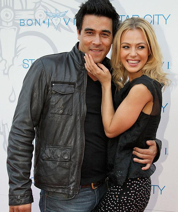 Jessica Marais' ex is tied up with *Home and Away*.