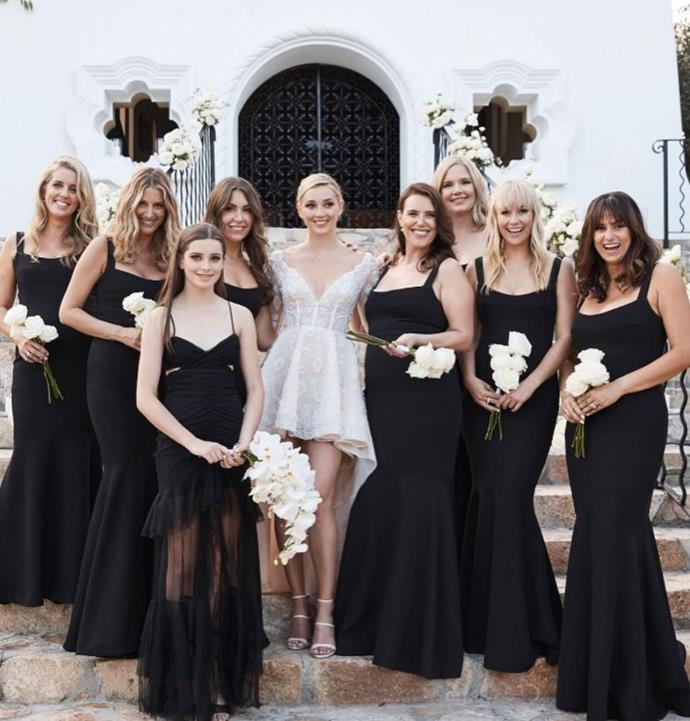 Jasmine and her bridesmaids, along with Karl's daughter Willow.