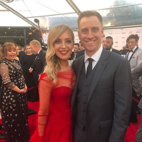 Carrie Bickmore and her husband Chris Walker, the executive producer of *Hard Quiz.*